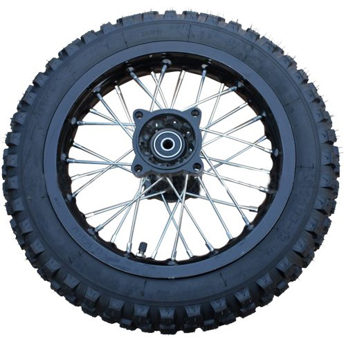 "X-PRO 12"" Rear Wheel Rim Tire Assembly for 110cc 125cc 140cc 150cc Dirt Bikes"