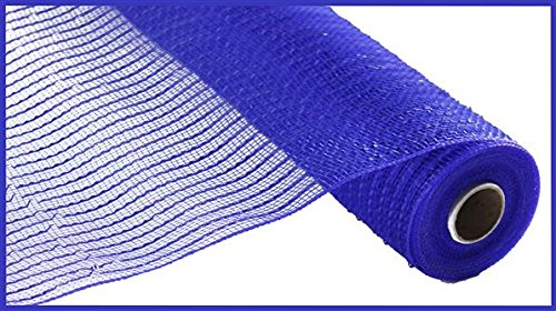 (Wide Foil Deco Poly Mesh Ribbon, 10 Inches x 30 Feet (Royal Blue, Blue Foil))