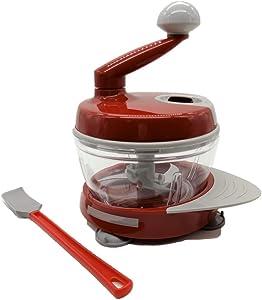 EZ KITCHEN Multi-function Manual Food Processor Kitchen Meat Grinder Vegetable Chopper, Slicer Spinner Dicer for Fruits