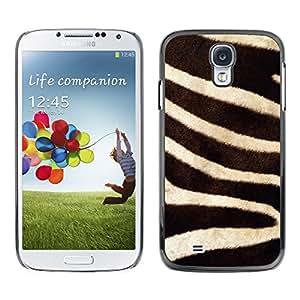 X-ray Impreso colorido protector duro espalda Funda piel de Shell para SAMSUNG Galaxy S4 IV / i9500 / i9515 / i9505G / SGH-i337 - Stripes White Black Lines Nature Africa