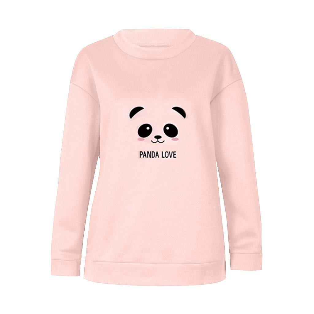 Aberimy Damen Hoodie Kapuzenpullover Panda-Druck Herbst Winter Casual Sweatshirt Langarm Kapuzenpulli Mode Lose Langarmshirts Pullover Sweatjacke Pulli Sport Shirts Tumblr M/ädchen Teenager