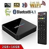Android 7.1 TV Box,M96x Pro+ TV Box 2GB RAM 16GB ROM 2.4Ghz/5Ghz Dual WiFi Amlogic S905W Quad Core True 4K Playing Bluetooth 4.1 Smart Media Player
