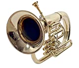 eMusicals Euphonium Bb Pitch With Free Bag And Mouthpiece, Brass