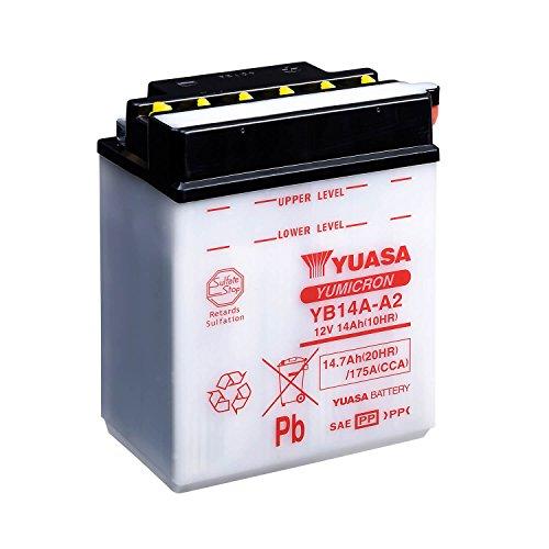 Yuasa YB14A-A2 combipack batterij met elektrolyt