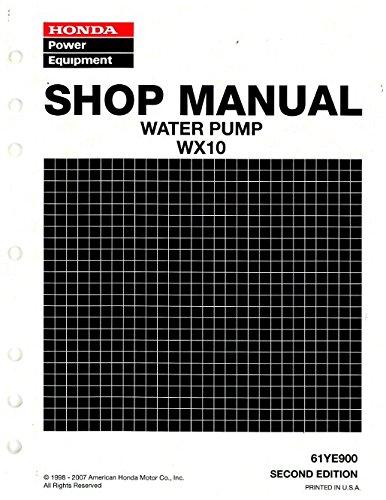 61YE900 Honda WX10 Water Pump Shop Manual