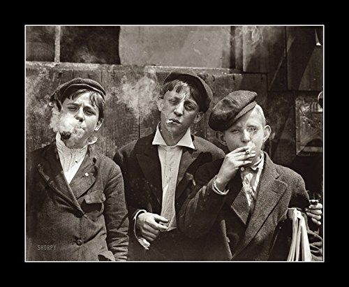 8 x 10 All Wood Framed Photo Light Them Of You Got Them Cigarettes And Kids 1905 ()
