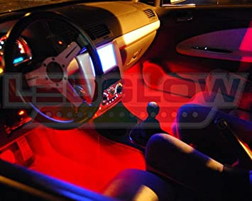 Red LED Interior Underdash Lighting Kit: Amazon.ca: Automotive