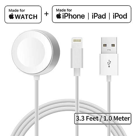 Cargador para Apple Watch iWatch Cable 2 en 1 Apple Watch & iPhone ...