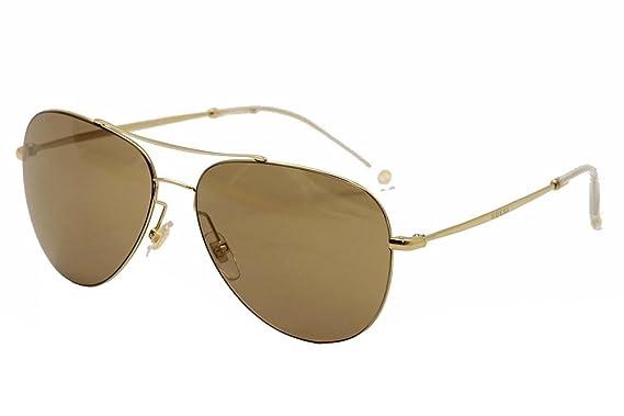 b012826eb2e3eb Gucci Lunettes de soleil aviateur en miroir brun or GG 2245 S J5G XS ...