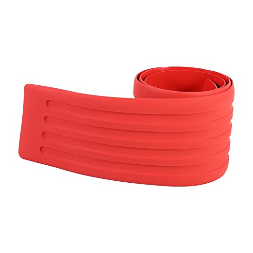 Color : Red Delaman/® Car Rear Guard Bumper Rubber Protection Sticker Trunk Trim Cover Protective Strip