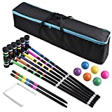 7. [6 Players]Premium Croquet Set for Families, BroWill Croquet Set with Carrying Bag for Yard Outdoor Lawn Backyard Games for Kids Adults All Ages, 35 Inch