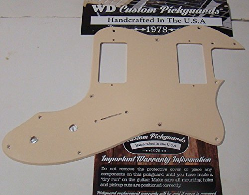 (Telecaster Thinline Replacement Pickguard for Two Standard Size Humbuckers - Solid Cream)