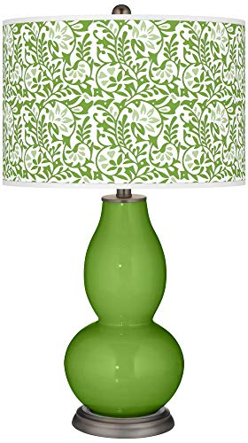 Rosemary Green Gardenia Double Gourd Table Lamp - Color + Plus