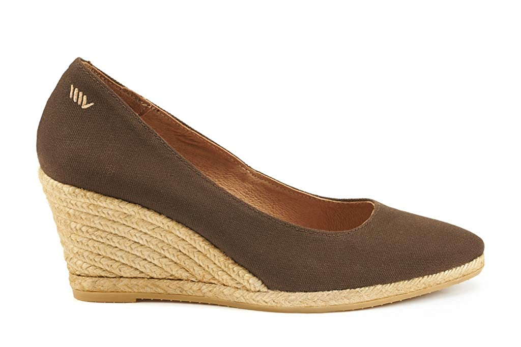 281e44b68cb VISCATA Handmade in Spain Roses 2.75-inch Elegant Style, Soft Canvas,  Slip-on Wedge Pump, Espadrilles Heel