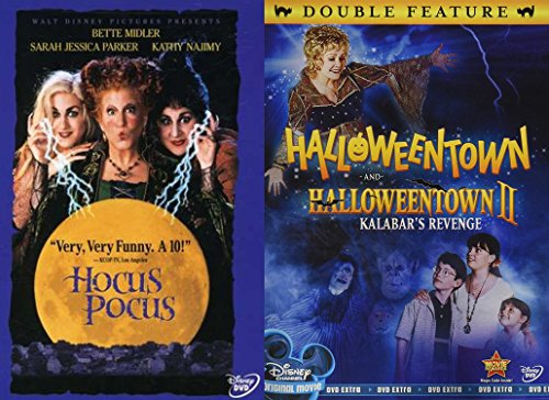 Disney Halloween Magic Triple Feature Halloweentown 1 +2 & Hocus Pocus Creepy witches family fun -