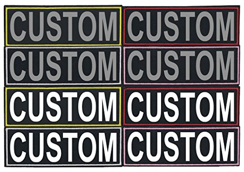 Dogline Personalized Single CUSTOM Fabric Patch with Bright White or 3M Reflective Letters 1.5