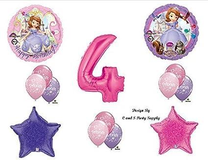 Amazon Disneys SOFIA THE FIRST FOURTH 4th Happy Birthday PARTY