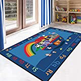 Carpet 3D Football Area Rugs Flannel Rug Memory Foam Carpet Play Crawl Mat Carpets for Home Living Room Decor
