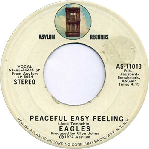 1972 Peaceful Easy Feeling/Trying 45 RPM Vinyl Record