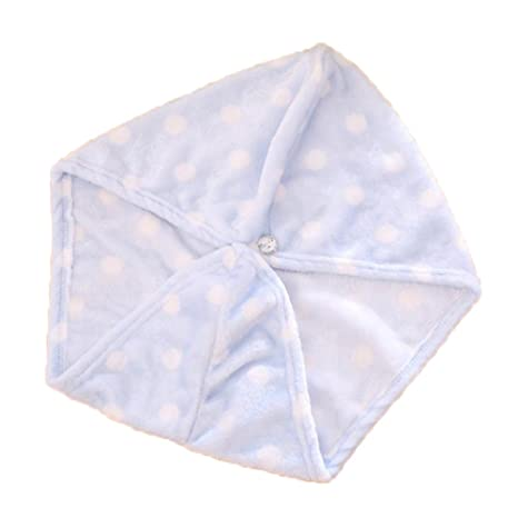 Chen Rui (TM) Toalla para Baño Envuelta Puntos Cabello Sombrero Secado Rápidamente Textil para