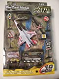 Battle of Valor Combat Military Series Die-cast Metal 1:87 Scale 10 Piece Set ~ F-16 Fighting Falcon, Camo Heli, Rapid Reaction Vehicle, and More!