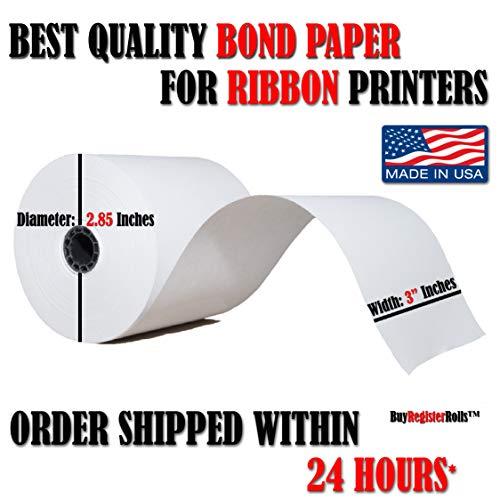1-Ply Kitchen Printer Paper Bond 3x150 (50 Rolls) from BuyRegisterRolls