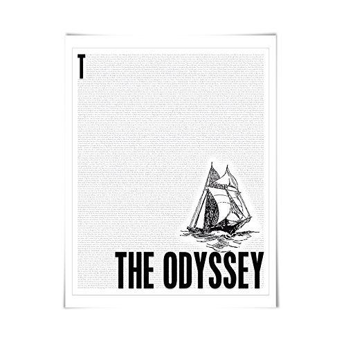 The Odyssey by Homer. Literary Art Print. 4 Sizes. Literature (Odyssey Contemporary Wall)