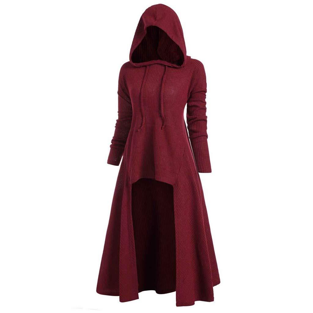 Baofull Herrenbekleidung Moda para Mujer con Capucha Talla Grande Capa De La Vendimia Suéter Alto Bajo Blusa Tops