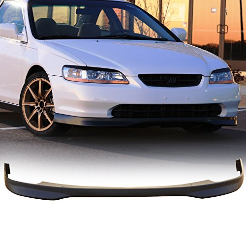 Front Bumper Lip Fits 1998-2000 Honda ACCORD 2 DOOR COUPE | JDM T-R Style PP Black Front Lip Spoiler Splitter by IKON MOTORSPORTS | 1999