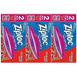 Ziploc Double Zipper All-Purpose Storage Quart Value Pack Bags - 50 CT (Pack of 3)