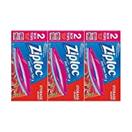 Ziploc Double Zipper All-Purpose Storage Quart Value Pack Bags - 50 CT (Pack of 3)