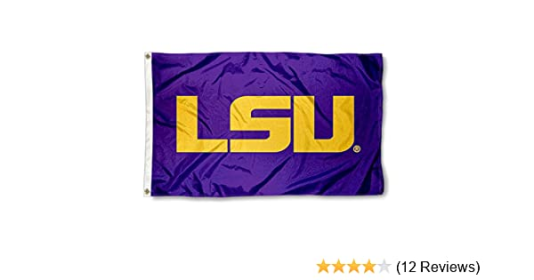 College Flags and Banners Co  Louisiana State LSU Tigers Purple Flag