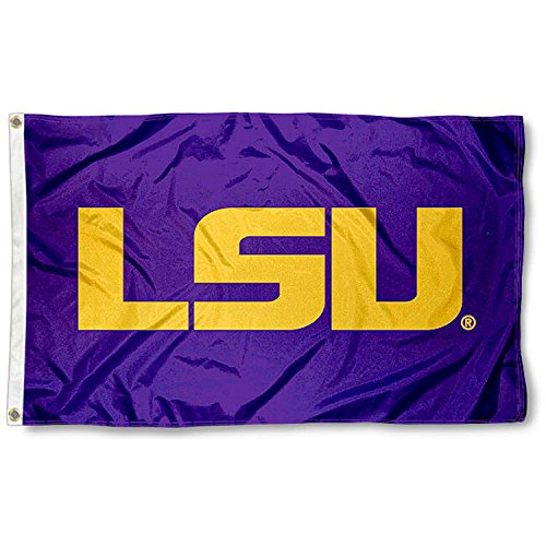 College Flags and Banners Co. Louisiana State LSU Tigers Purple Flag