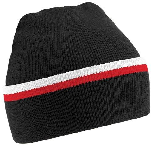 Gorro Talla Unisex CSR Teamwear BLK Negro Beechfield B471 WHI Única BnRPOAXWq