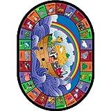 Educational Faith Based Noah's Alphabet Animals Kids Rug Rug Size: Oval 10'9'' x 13'2''