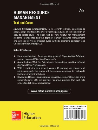 Human resource management: text and cases: k. Aswathappa.