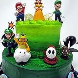 "Mario Brothers Birthday Party 22 Piece Mario Birthday Cake Topper Featuring Mario, Luigi, Bullet, Toad, Mushroom, Goomba, Koopa, Shy, Bomb, Lakitu Spiny, Mario Coins, Large Bomb, and 6 Mario 1"" Decorative Buttons"