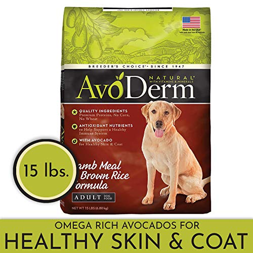 AvoDerm Natural Dry & Wet Dog Food, For Skin & Coat, Lamb & Rice Formula