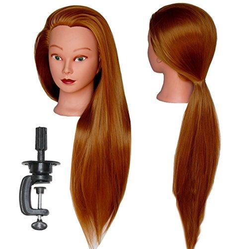 "HairZtar 30"" Synthetic Fiber Mannequin Head (Long and Thick) Hairdresser Training Head Manikin Cosmetology Doll Head (ELLEN + C) (ELLEN+C)"