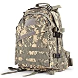 yukon range bag tactical - Flexzion Military Tactical Backpack (ACU) Outdoor Camping Hiking Hunt Trekking Assault Rucksack Travel Molle Daypack Bag Expandable Waterproof 40L Capacity