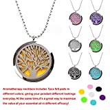 [M.JVisun] Tree of Life Surgical Stainless Steel Perfume / Essential Oil Diffuser Necklace
