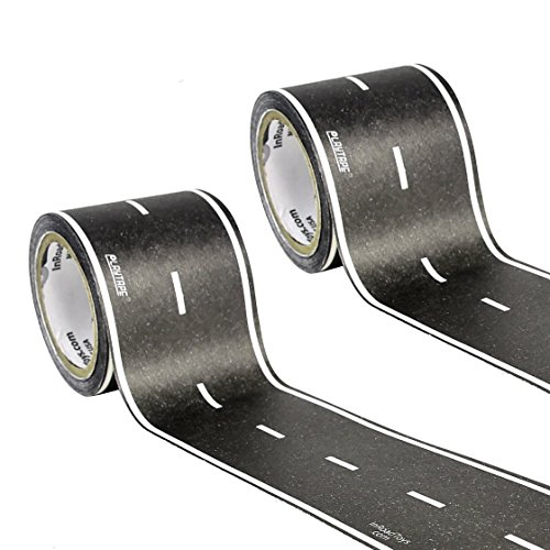 """PlayTape Classic 2 Pack Black Road Blistercard 2""""x15' - Road"""