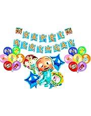 Cocomelon theme party balloon supplies children's birthday balloons baby bath balloons cocomelon theme party decoration balloons 20pcs
