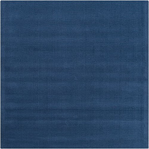 (Surya Mystique M-330 Transitional Hand Loomed 100% Wool Sapphire Blue 8' Square Area Rug)