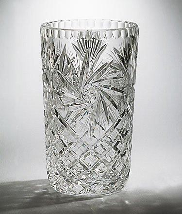 Amazon Handcut Crystal Pinwheel Vase 8 Inch Home Kitchen