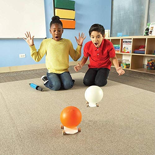 STEM Balloon Cars Kit for Kids (Ages 5+) - Build Your Own Balloon Car Then Race to The Finish Line