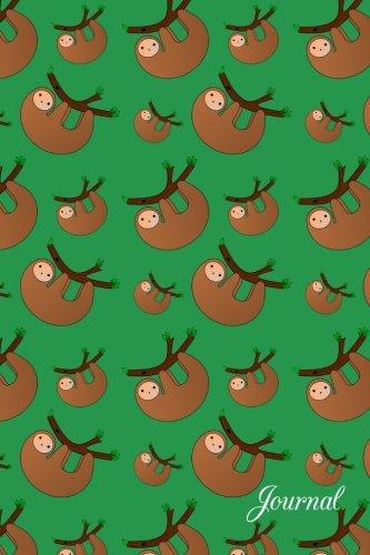 Journal: Green Sloths Pattern Notebook - 900, Hundredths-Inches, 600, Hundredths-Inches, 25, Hundredths-Inches