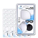 Dependable Direct Blind Spot Mirror Rear View Wide Angle Convex - Fan Shape - 25 Packs of 2 (50 Total Mirrors)