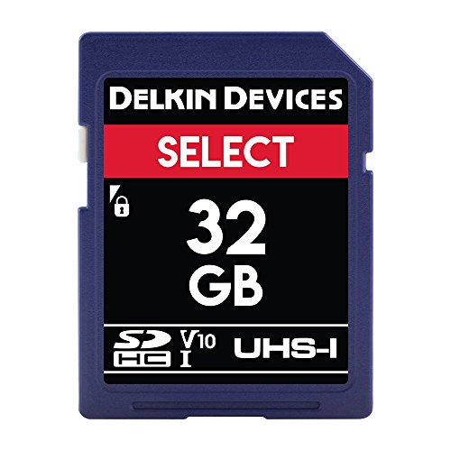 Select SDHC UHS-I (U1/V10) Memory Card (Delkin Devices Secure Digital Card)