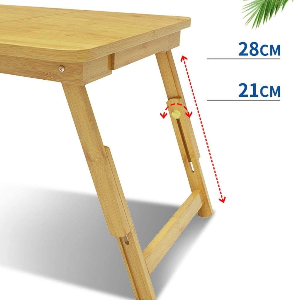 BETTY Tables Laptop Table Bed Wooden Simple Small Table Home Removable Folding Student Dormitory Color : Have Drawer